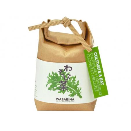"""Acheter Kit """"Cultivez et mangez""""- wasabi - Petit sac japonais pour faire pousser une plante - 9,99€ en ligne sur La Petite E..."""