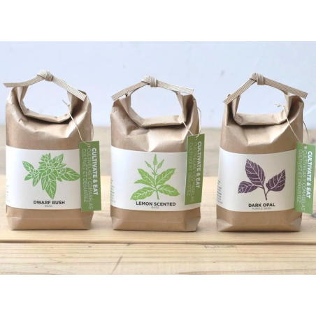 """Acheter Kit """"Cultivez et mangez"""" - basilic nain - Petit sac japonais pour faire pousser une plante - 9,99€ en ligne sur La P..."""