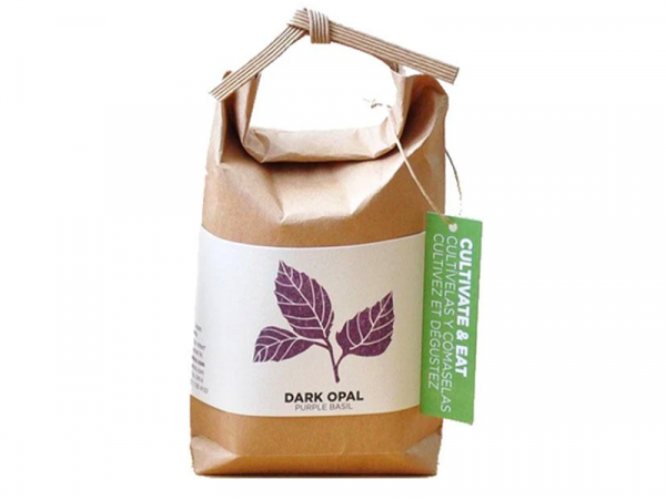 """Acheter Kit """"Cultivez et mangez"""" - basilic mauve dark opal - Petit sac japonais pour faire pousser une plante - 9,99€ en lig..."""