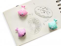 Acheter 3 gommes licornes en forme de Narval - baleine licorne - 4,49€ en ligne sur La Petite Epicerie - Loisirs créatifs