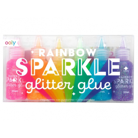 Acheter 6 stylos colle à paillettes - rainbow sparkle - 9,99€ en ligne sur La Petite Epicerie - Loisirs créatifs