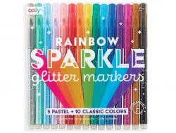 Acheter 15 feutres métalliques à paillettes - rainbow sparkle glitter markers - 19,99€ en ligne sur La Petite Epicerie - Loi...