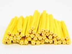 Cane étoile jaune rayures- en pâte fimo - à trancher  - 1