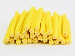 Star cane - with yellow stripes