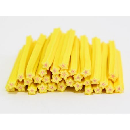 Acheter Cane étoile jaune rayures- en pâte fimo - à trancher - 0,99€ en ligne sur La Petite Epicerie - Loisirs créatifs