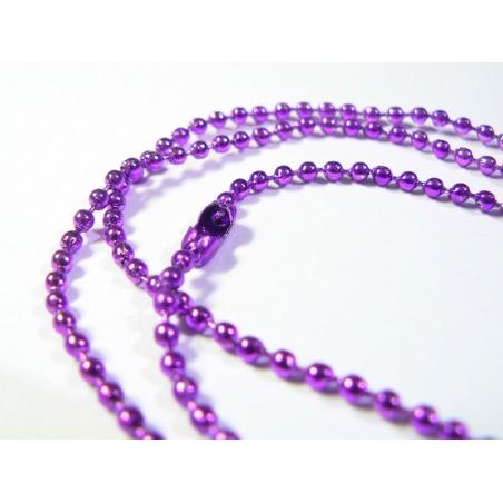 Dark purple ball chain necklace - 60 cm