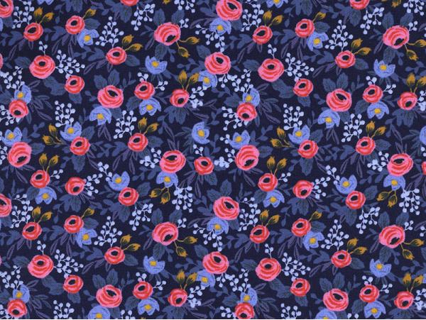 Acheter Tissu coton Rifle Paper - Rosa Navy Blue - 2,41€ en ligne sur La Petite Epicerie - Loisirs créatifs