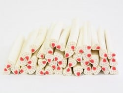 Heart cane - with polka-dots and a strawberry