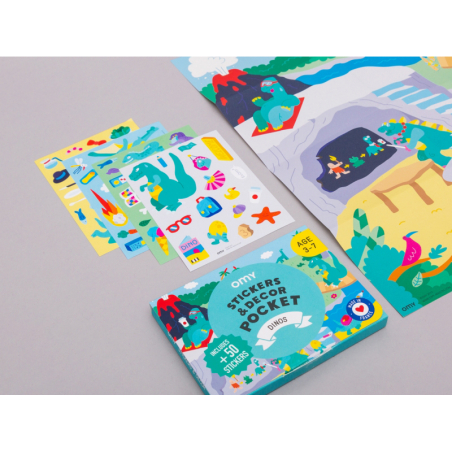 Acheter Poster et 50 stickers - Dinosaures - 7,99€ en ligne sur La Petite Epicerie - Loisirs créatifs