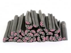 Cane aile de papillon rose en pâte fimo - à découper en tranches