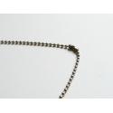 Collier chaine bille- couleur argent foncé - 70 cm