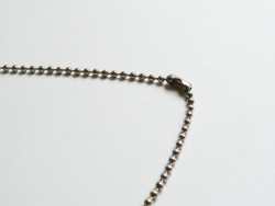Ball necklace - dark silver-coloured - 60 cm