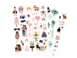 Acheter Set de 3 planches de stickers : végétal, pink mood et rouge passion - 3,99€ en ligne sur La Petite Epicerie - Loisir...
