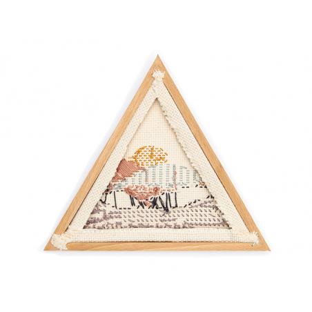 Acheter Petit cadre triangulaire pour ouvrage, broderie, punch needle - 21 x 18,3 cm - 13,49€ en ligne sur La Petite Epiceri...