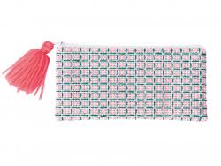 Acheter Trousse à broder - dessins géométriques - tons bleus et roses - 13,99€ en ligne sur La Petite Epicerie - Loisirs cré...