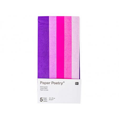 Acheter 5 feuilles de papier de soie - tons de rose assortis - 1,99€ en ligne sur La Petite Epicerie - Loisirs créatifs