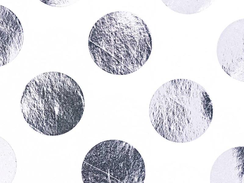 Acheter 4 feuilles de papier de soie blanc à pois argentés - 3,69€ en ligne sur La Petite Epicerie - Loisirs créatifs