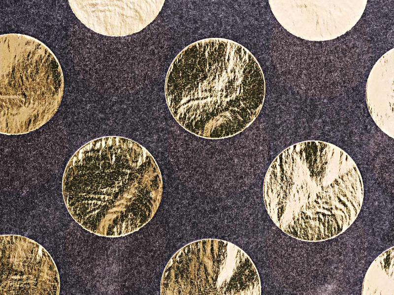 Acheter 4 feuilles de papier de soie noir à pois dorés - 3,69€ en ligne sur La Petite Epicerie - Loisirs créatifs