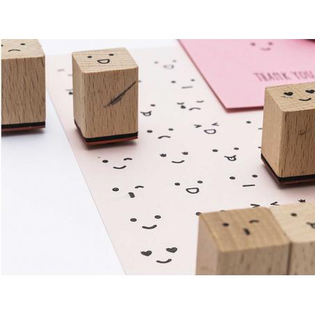 Acheter Lot de 12 tampons expressions de visage - 8,99€ en ligne sur La Petite Epicerie - Loisirs créatifs
