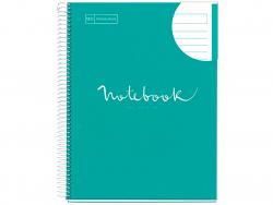 """Acheter Carnet à spirale A4 """"notebook"""" ligné - vert menthe - 5,99€ en ligne sur La Petite Epicerie - Loisirs créatifs"""