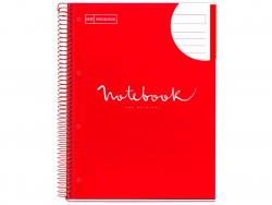 """Acheter Carnet à spirale A4 """"notebook"""" ligné - Rouge - 5,99€ en ligne sur La Petite Epicerie - Loisirs créatifs"""
