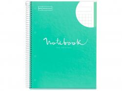 """Acheter Carnet à spirale A4 """"notebook"""" quadrillé - vert menthe - 5,99€ en ligne sur La Petite Epicerie - Loisirs créatifs"""
