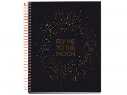 Acheter Carnet à spirale A5 motif galaxie - Fly me to the moon - 7,49€ en ligne sur La Petite Epicerie - Loisirs créatifs