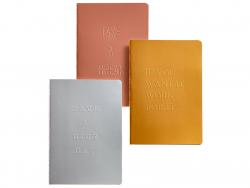 Acheter Lot de 3 carnet A5 - phrases motivantes - 6,99€ en ligne sur La Petite Epicerie - Loisirs créatifs