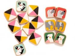 Acheter Mémory animal - 16 pièces en bois et leur petit sac en coton - 22,99€ en ligne sur La Petite Epicerie - Loisirs créa...