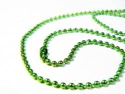 Grüne Kugelhalskette - 60 cm