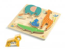 Acheter Puzzle en bois animaux de la jungle - Woodyjungle - 14,89€ en ligne sur La Petite Epicerie - Loisirs créatifs