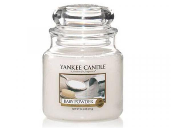 Acheter Bougie Yankee Candle - Talc pour bébé / Baby Powder - Moyenne Jarre - 24,89€ en ligne sur La Petite Epicerie - Loisi...