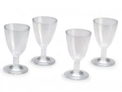 Acheter Lot de 4 mini verres de vin miniatures en plastique - 3,19€ en ligne sur La Petite Epicerie - Loisirs créatifs