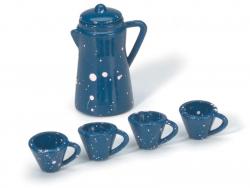 Acheter Service à café émaillé bleu - miniature - 3,19€ en ligne sur La Petite Epicerie - Loisirs créatifs