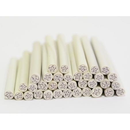 Rose cane - white