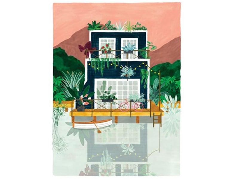Acheter Affiche aquarelle - Cabine - 50 x 70 cm - ATWS - 44,99€ en ligne sur La Petite Epicerie - Loisirs créatifs