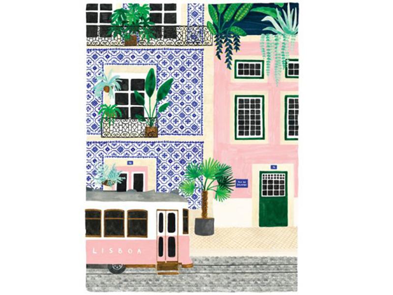Acheter Affiche aquarelle - Lisbonne - 50 x 70 cm - ATWS - 44,99€ en ligne sur La Petite Epicerie - Loisirs créatifs