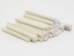 Cane rose blanche en pâte fimo - modelage