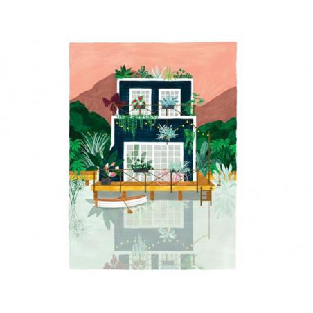 Acheter Affiche aquarelle - Cabine - 29,7 x 39,7 cm - ATWS - 23,99€ en ligne sur La Petite Epicerie - Loisirs créatifs