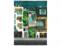 Acheter Affiche aquarelle - Buildings - 50 x 70 cm - ATWS - 44,99€ en ligne sur La Petite Epicerie - Loisirs créatifs