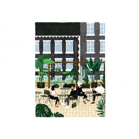 Acheter Affiche aquarelle - Rooftop - 29,7 x 39,7 cm - 23,99€ en ligne sur La Petite Epicerie - Loisirs créatifs