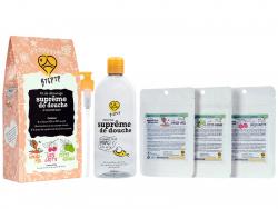Acheter Coffret cadeau kit de démarrage - Suprême de douche à reconstituer : amande et miel, cerise griotte et pomme acidulée...