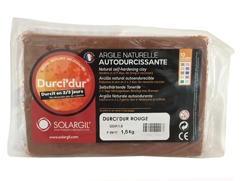 Acheter Durci'dur rouge - Argile naturelle autodurcissante - 7,99€ en ligne sur La Petite Epicerie - Loisirs créatifs