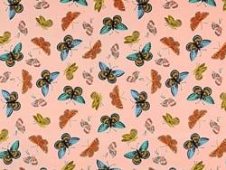Acheter Tissu coton Rifle Paper - Monarch Peach - 2,41€ en ligne sur La Petite Epicerie - Loisirs créatifs