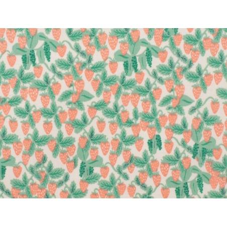 Acheter Tissu coton Rifle Paper - Strawberries - 2,15€ en ligne sur La Petite Epicerie - Loisirs créatifs