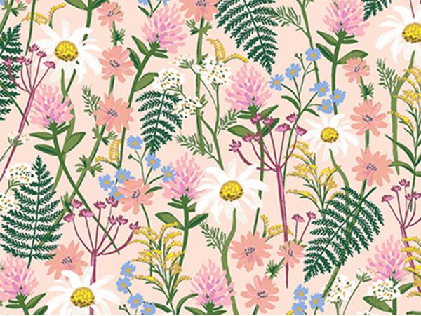 Acheter Tissu coton Rifle Paper - Wildflowers Pale Rose - 2,89€ en ligne sur La Petite Epicerie - Loisirs créatifs