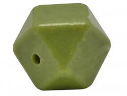 Acheter Lot de 3 perles géométriques de 14 mm en silicone - Vert olive - 2,99€ en ligne sur La Petite Epicerie - Loisirs cré...