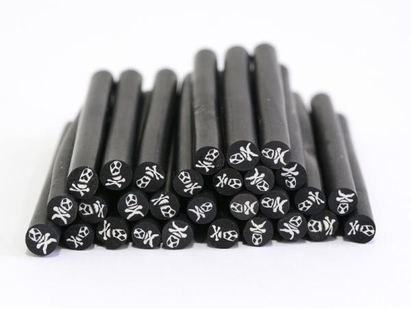 Acheter Cane tête de mort noire- en pâte polymère pour le modelage - 0,99€ en ligne sur La Petite Epicerie - Loisirs créatifs