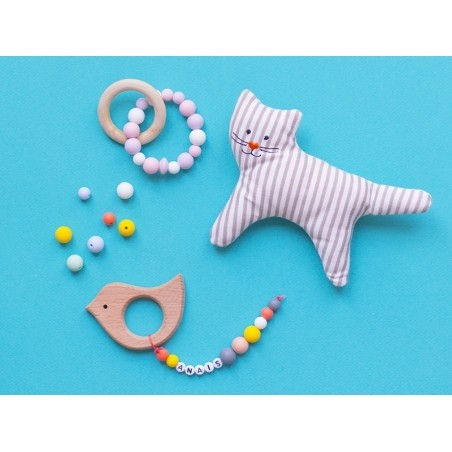 Acheter Lot de 3 perles géométriques de 14 mm en silicone - Rouge orangé - 2,99€ en ligne sur La Petite Epicerie - Loisirs c...
