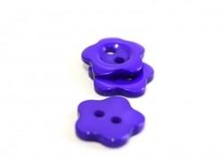 Bouton plastique fleur 14 mm - violet